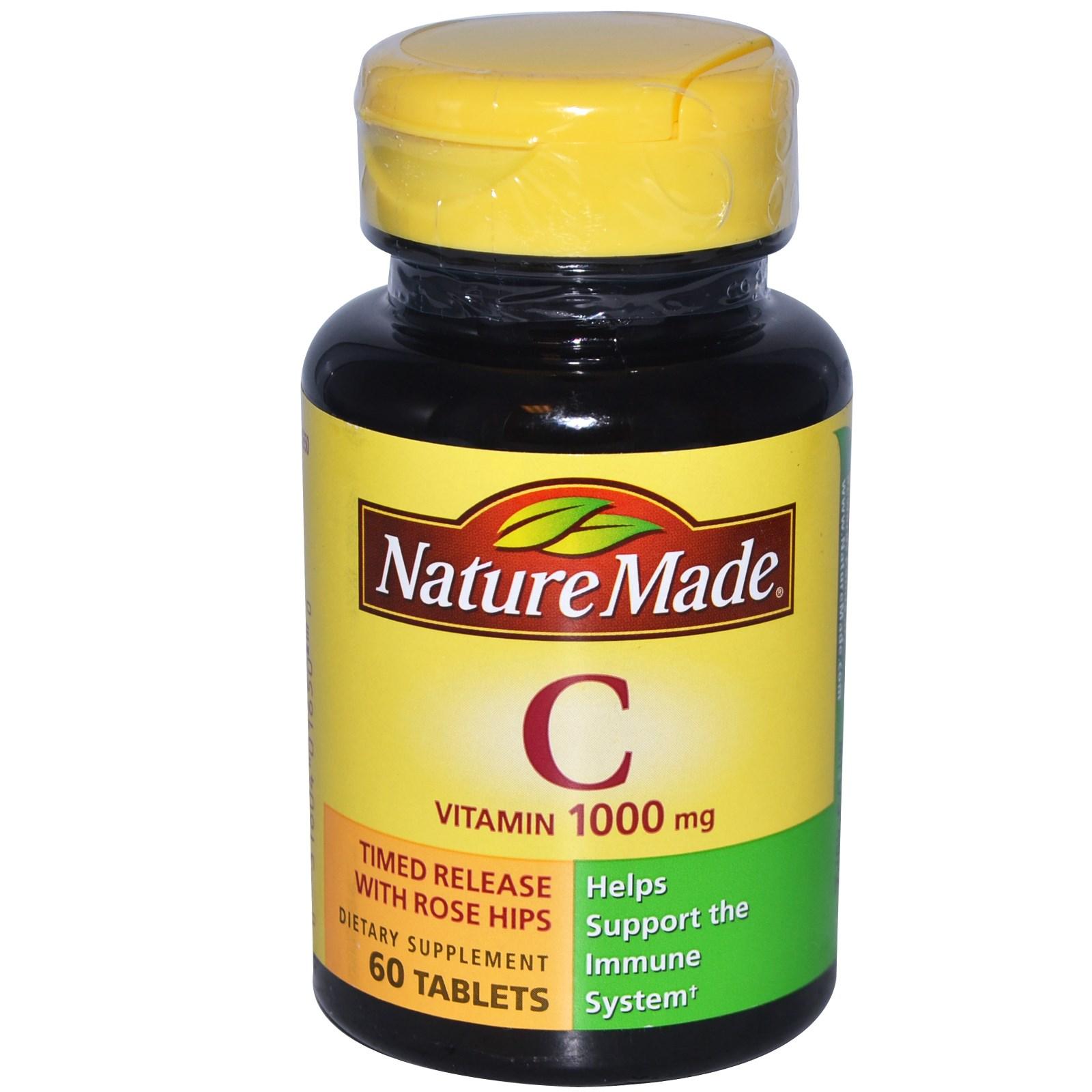 Vitamin C, 1000 mg, lọ 60 viên nén, hiệu Nature Made