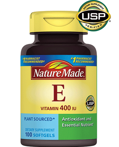 Vitamin E 400 I.U. lọ 100 viên nang mềm, hiệu Nature Made