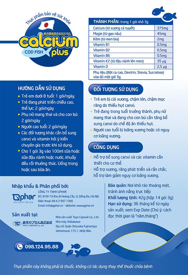 canxi cá tuyết, canxi cá tuyết plus, calcium cá tuyết, calcium cá tuyết plus, Nhật Bản, cách dùng, hướng dẫn sử dụng, dung thế nào, cách pha, độ tuổi uống, đối tượng