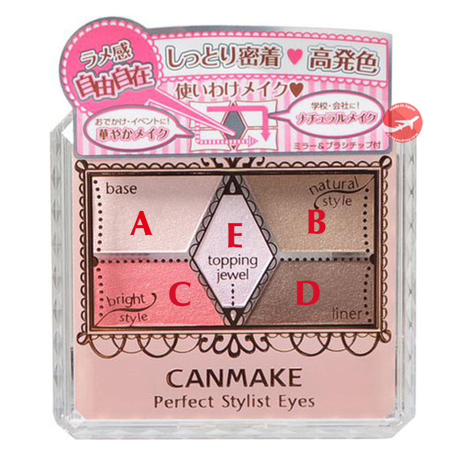 Phấn mắt Canmake Perfect Stylist Eyes (5 màu)
