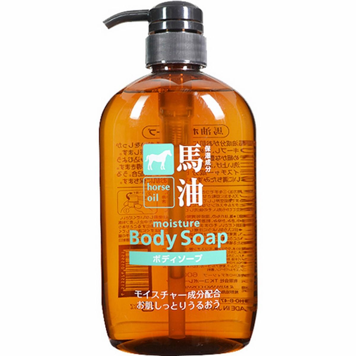 Sữa tắm tinh chất mỡ ngựa Nhật Bản Horse Oil Moisture Body Soap 600ml