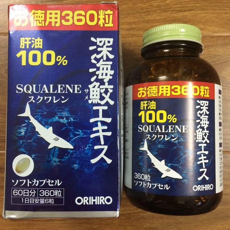 Sụn vi cá mập Squalene ORIHIRO 360 viên
