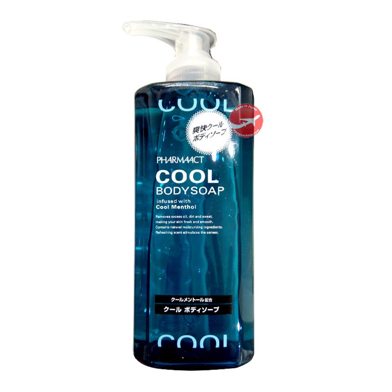 Sữa tắm cho nam Cool Body Soap Pharmaact (Hương bạc hà) - Nhật Bản