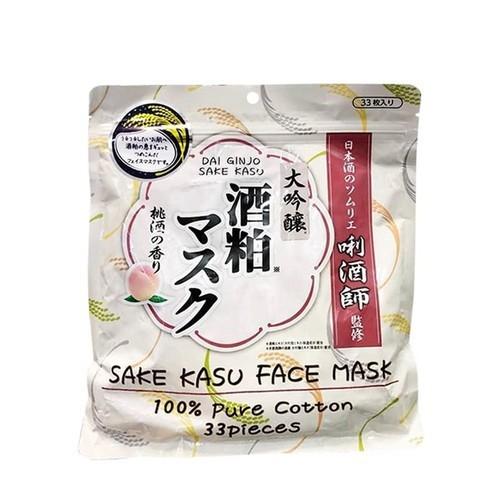 Mặt nạ bã rượu Sake Kasu Face Mask 33 miếng của Nhật Bản