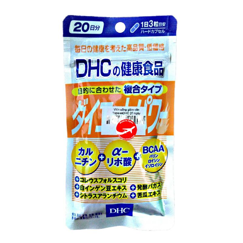Viên uống giảm cân Topawa DHC 20 ngày - 60 viên