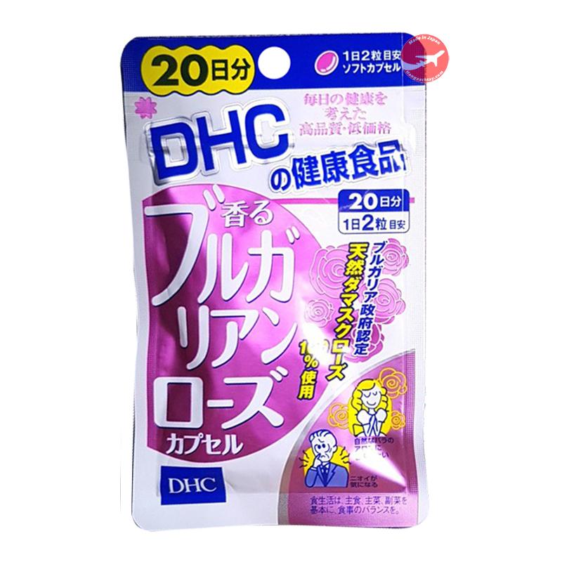 viên uống tinh dầu hoa hồng thơm cơ thể DHC