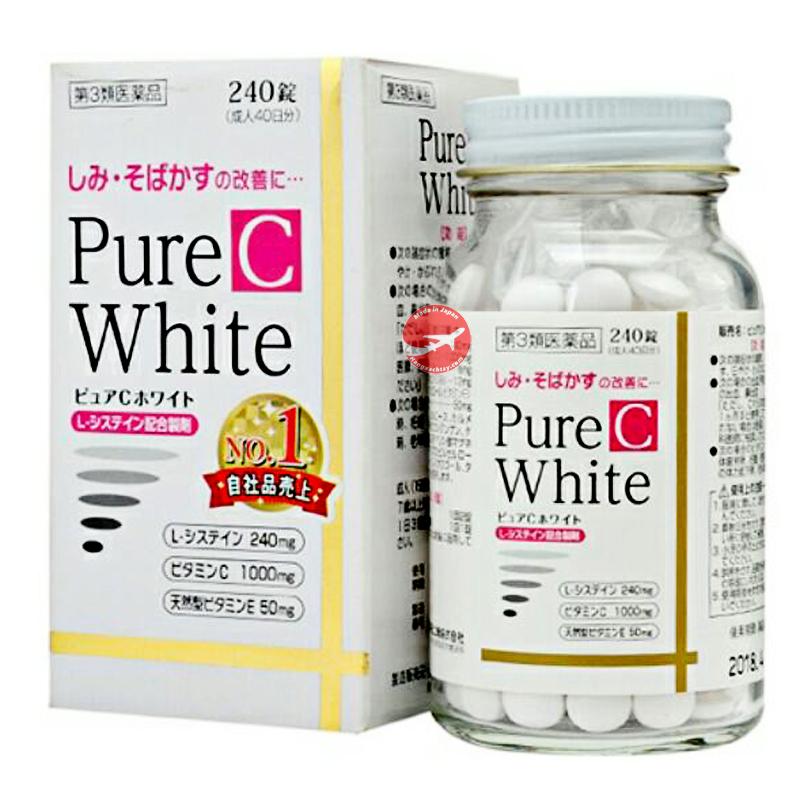 Viên uống trắng da, trị nám Pure White C Nhật Bản (Hộp 240 Viên)