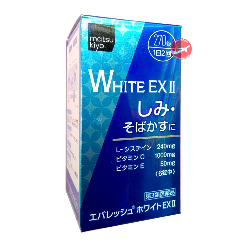 Viên uống trắng da của Nhật Bản White EX 270 viên 1000mg