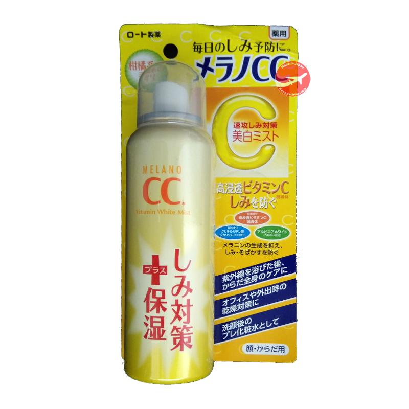 Xịt khoáng dưỡng trắng da CC Melano Rohto Whitening Mist