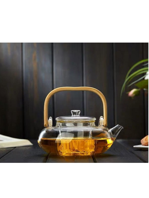 Ấm pha trà thủy tinh quai tre zeno ATT31 - 800ml