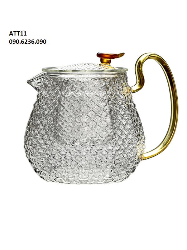 Ấm trà thủy tinh ZENO ATT11