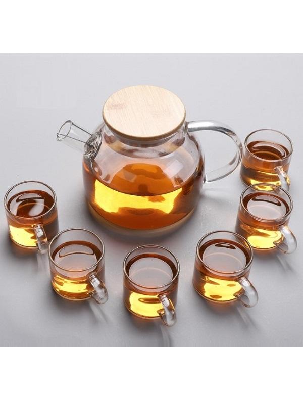 Bộ ấm chén pha trà thủy tinh chịu nhiệt Zeno SET73