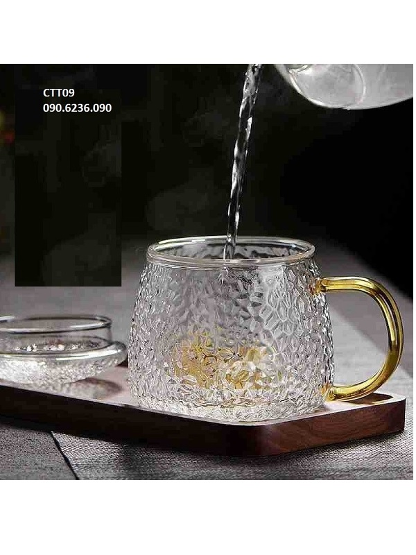 Cốc trà thủy tinh CTT09 300ml
