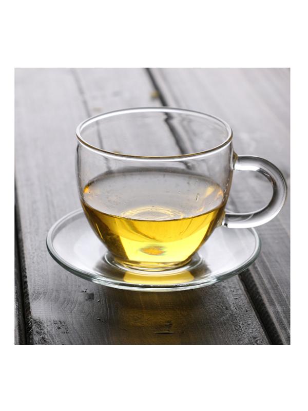 Chén trà thủy tinh ZENO CTT04 (Kèm đĩa)