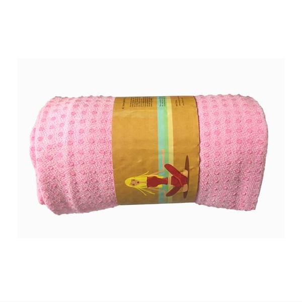 Khăn trải thảm tập yoga silicon (Hồng)