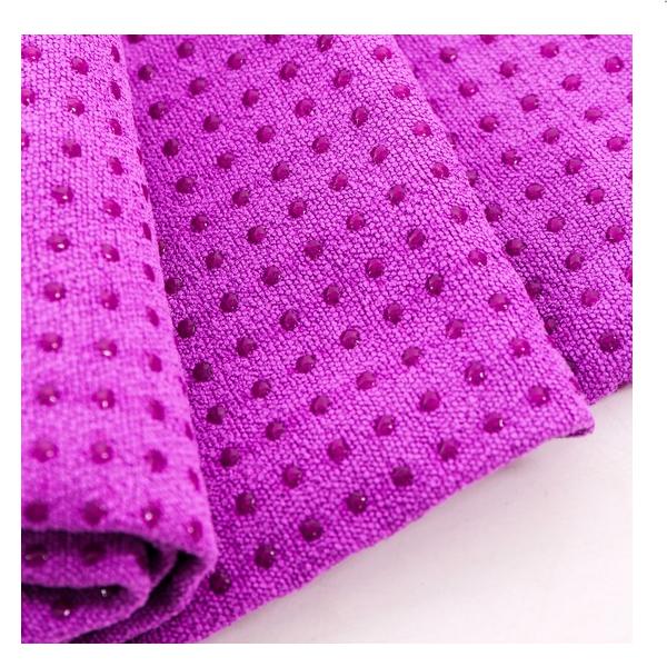 Khăn trải thảm tập yoga silicon (tím)