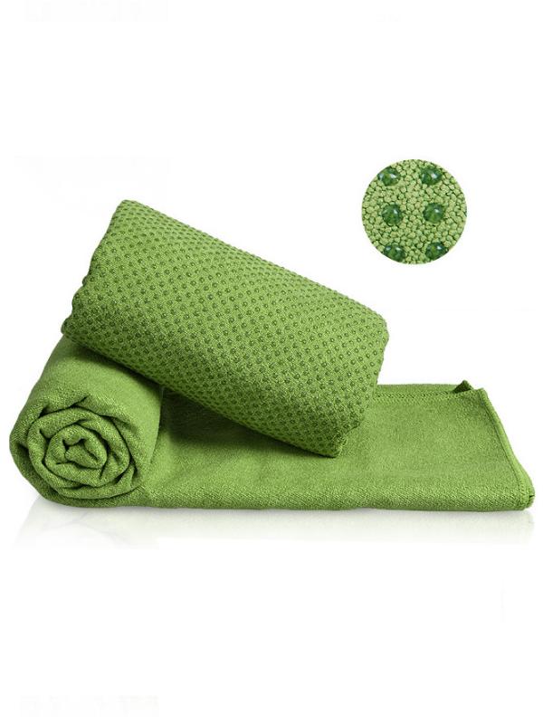Khăn trải thảm tập yoga silicon (xanh lá)