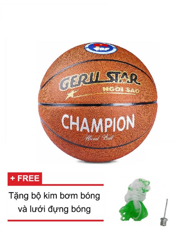 Quả bóng rổ da PVC GERUSTAR CHAMPION Size 7