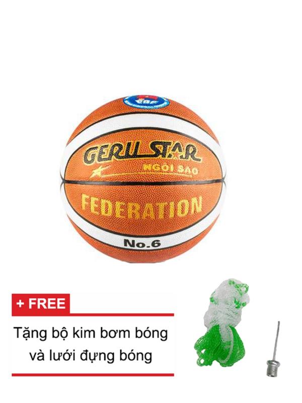 Quả bóng rổ da PU Gerustar Federation no.6