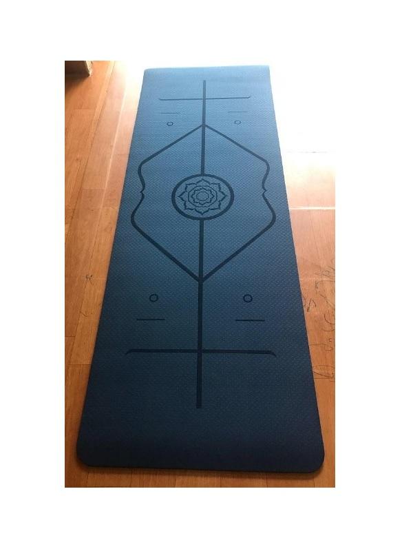 Thảm tập yoga TPE Zeno định tuyến 8mm (Đen)