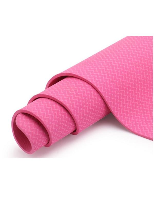 Thảm tập yoga TPE Zeno định tuyến 8mm (Hồng)