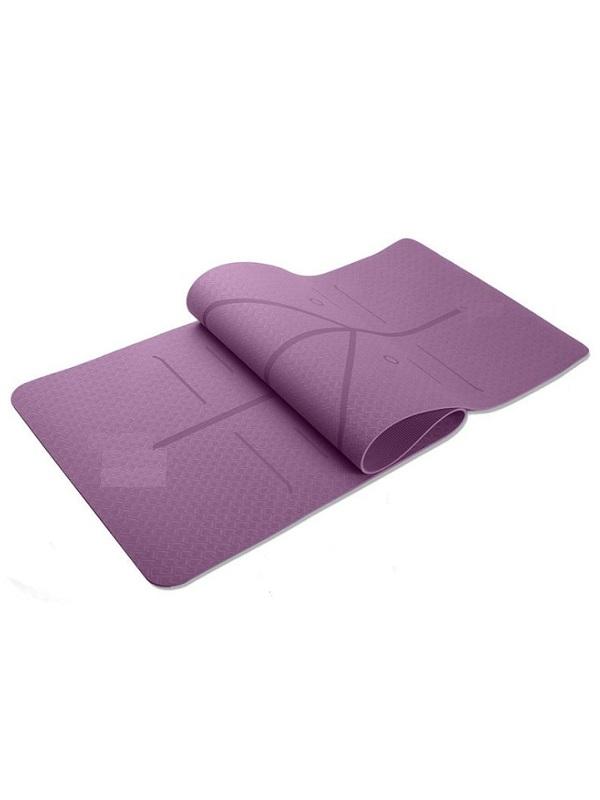 Thảm tập yoga TPE Zeno định tuyến 8mm (Tím)