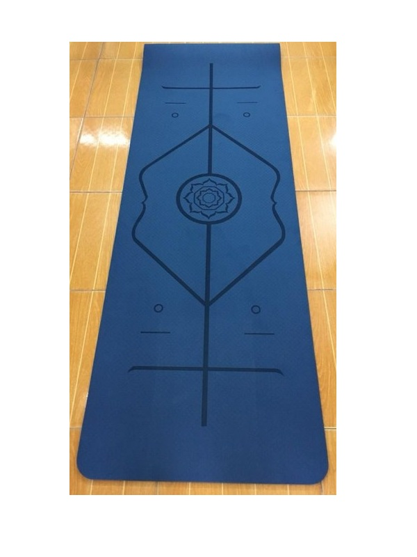 Thảm tập yoga TPE Zeno định tuyến 8mm (xanh đậm)