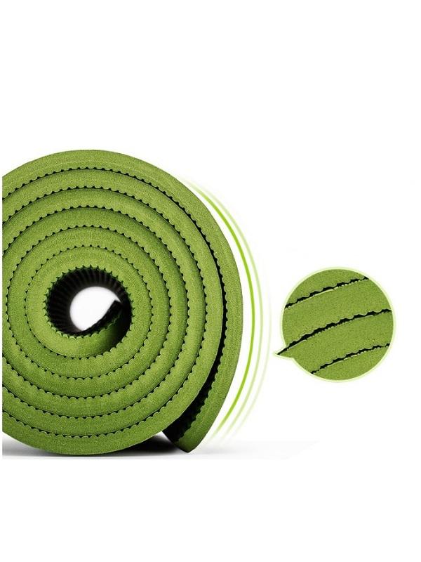 Thảm tập yoga TPE Zeno định tuyến 8mm (xanh lá)
