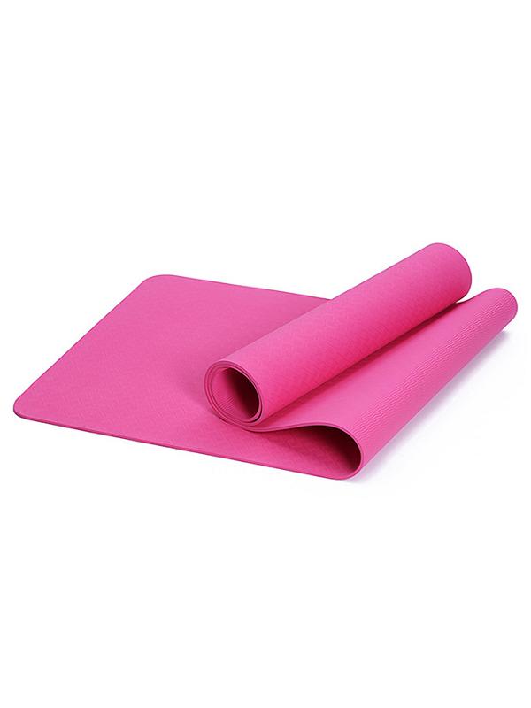 Thảm yoga TPE Zeno 1 lớp 8mm (hồng)