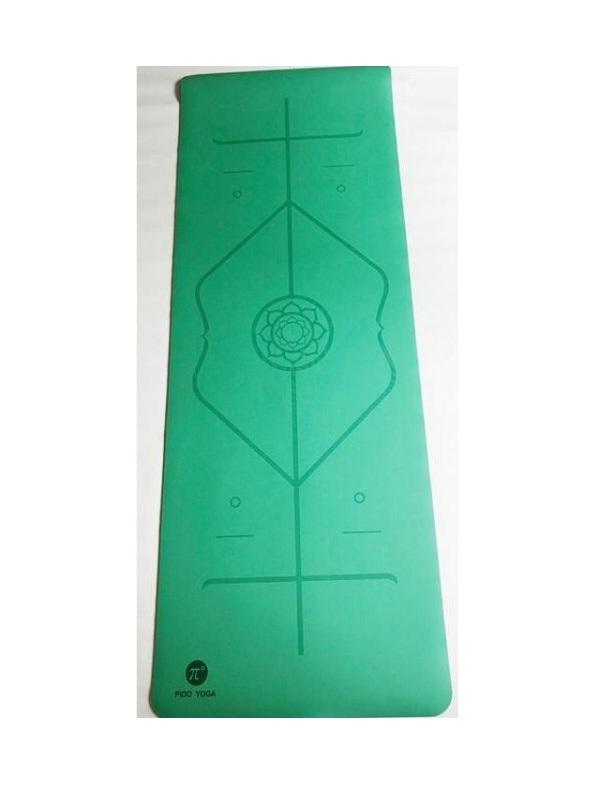 Thảm tập yoga định tuyến cao cấp Pido (xanh lá)