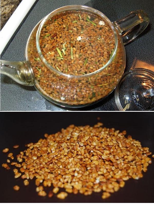 Trà gạo rang (mộc mạch trà)