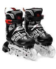 Giày trượt patin Cougar 835LSG màu ghi đen, có đèn