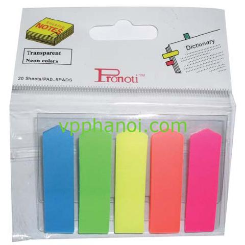 Giấy phân trang Pronoti 5 màu (50mmx12mm)