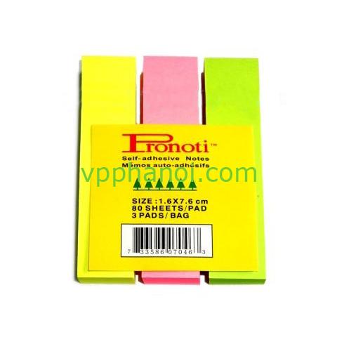 Giấy phân trang Pronoti giấy 3 màu (16x76mm)