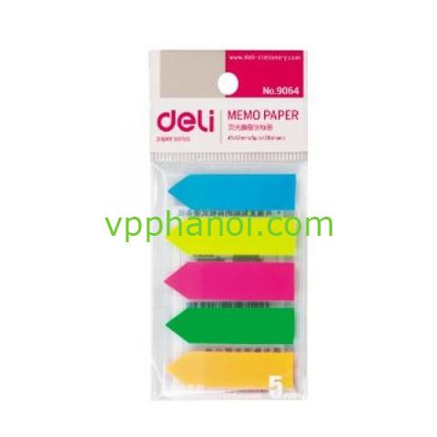 Giấy phân trang Deli 5 màu nhựa (12x45mm)