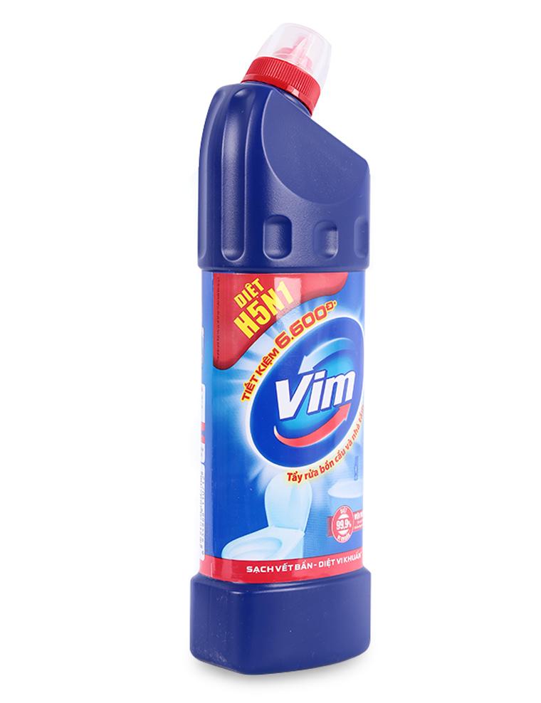 Dung dịch tẩy rửa bồn cầu và nhà tắm Vim diệt khuẩn 900ml