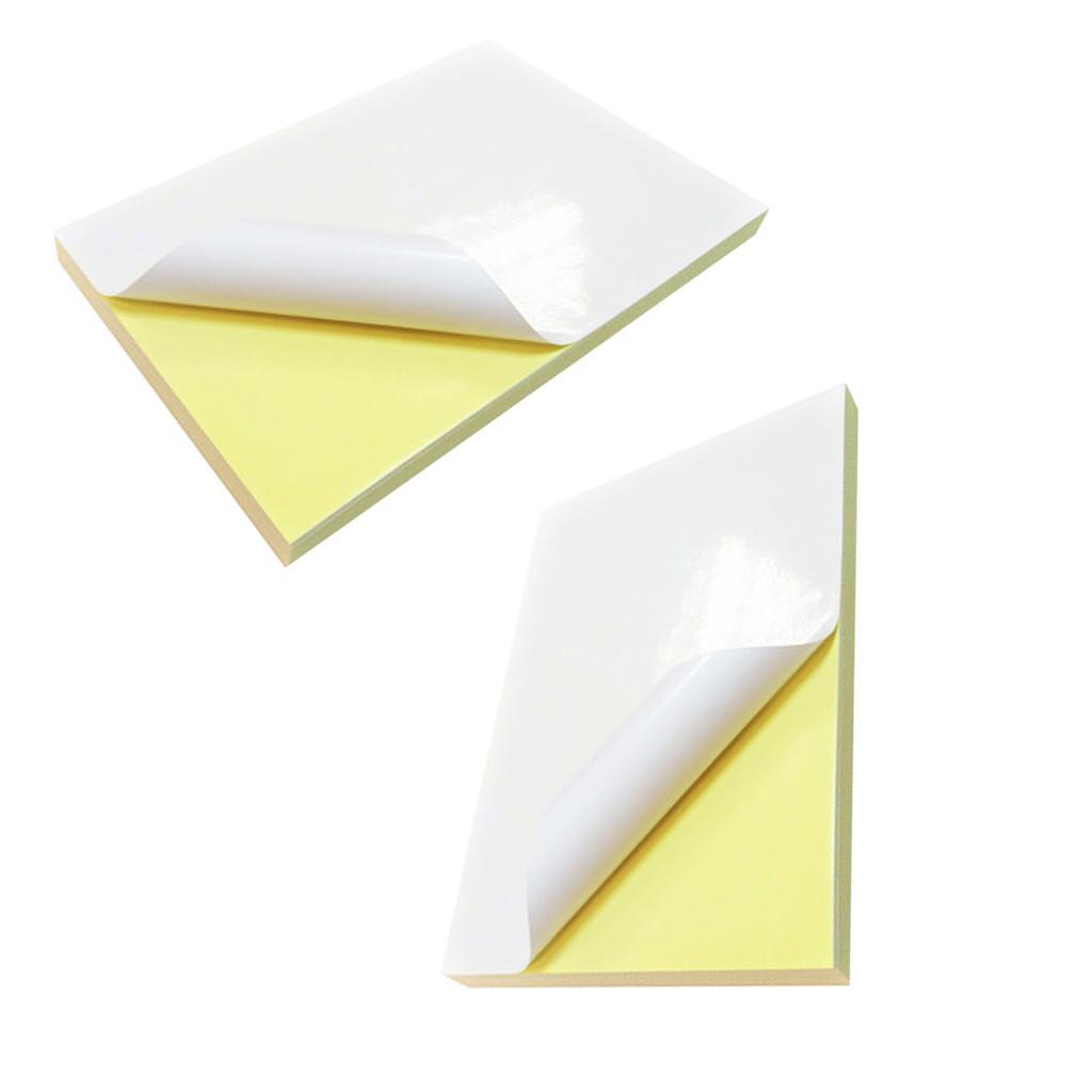 Giấy Decal A4 đế vàng giấy láng