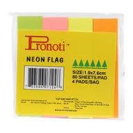 Giấy phân trang Pronoti giấy 4 màu(14mmx75mm)