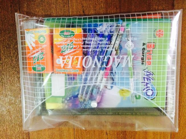 Combo đồ dùng học sinh từ thiện 50k