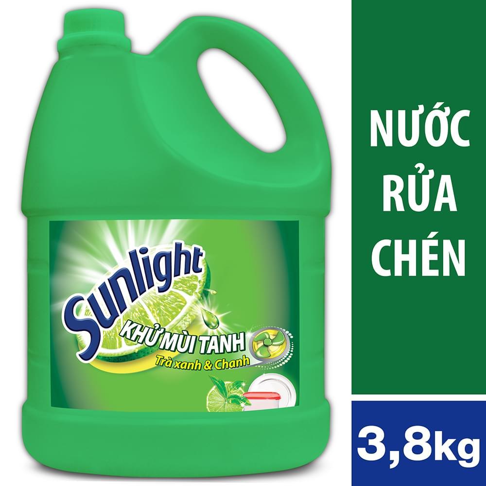 SUNLIGHT Nước Rửa Chén Trà Xanh 3.8kg