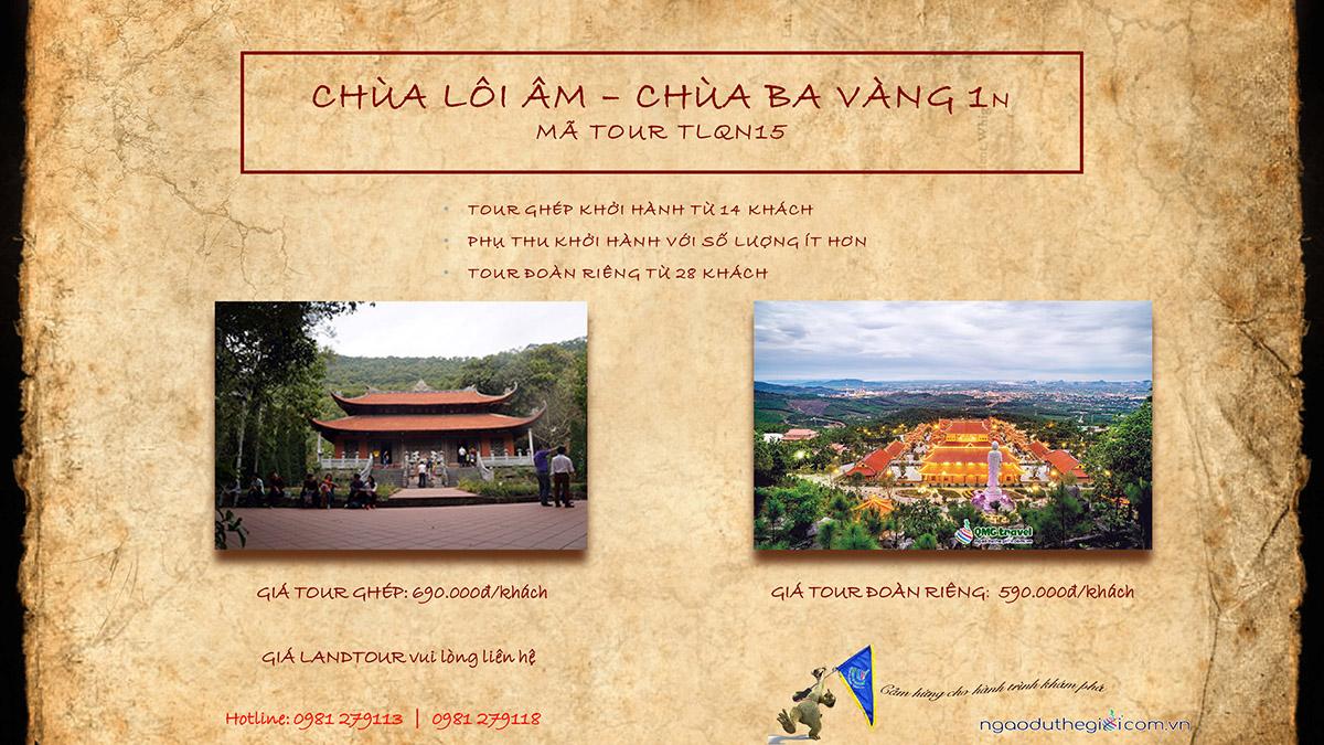 du lịch chùa Lôi Âm - Ba Vàng