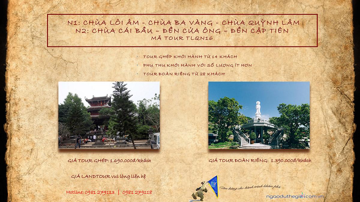 du lịch đền Cửa Ông - chùa Cái Bầu