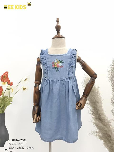 Váy jean bé gái sát nách 2-6 tuổi