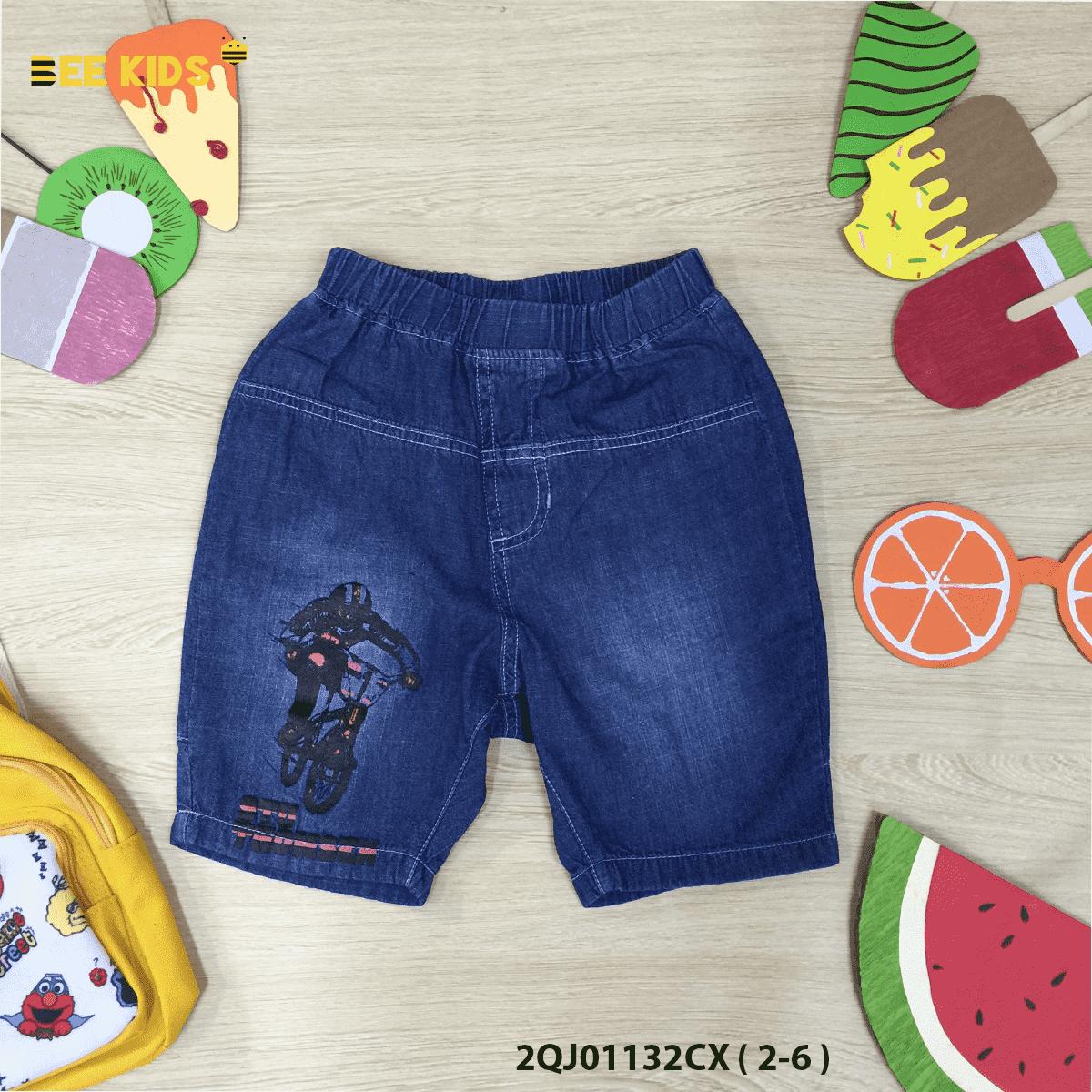 Quần ngố jeans bé trai từ 2 đến 6 tuổi