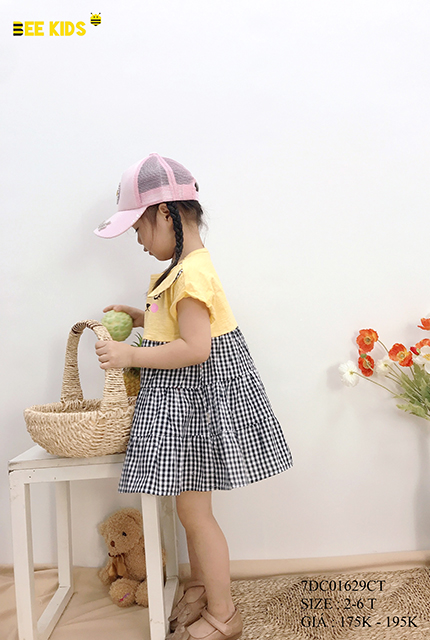 Váy thô bé gái chất thô mềm size 2-6 tuổi