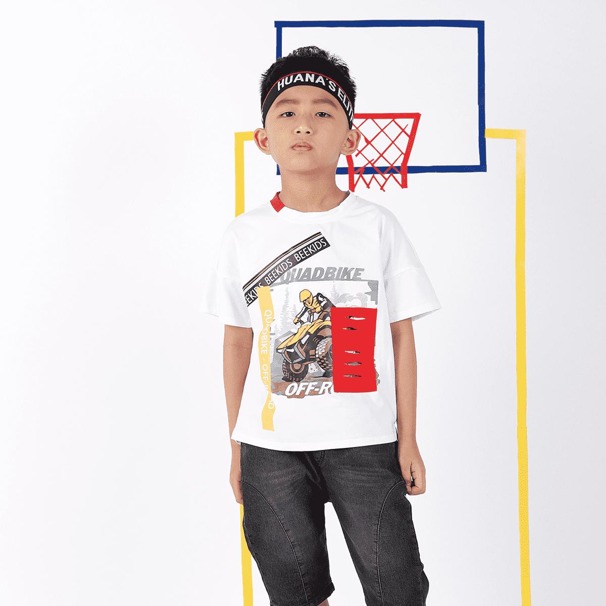 Áo thun bé trai từ 7 đến 12 tuổi