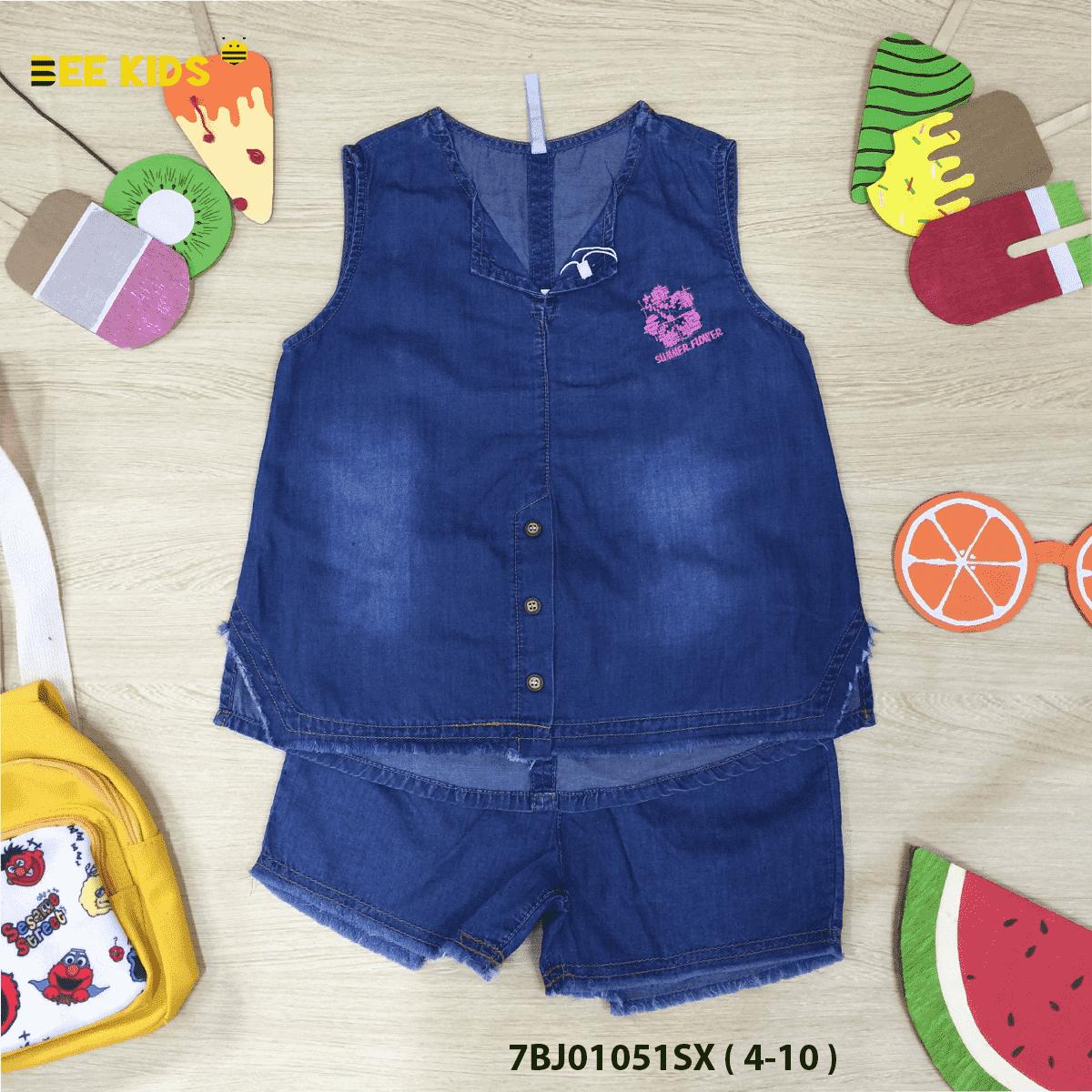 Bộ Jeans bé gái từ 4 đến 10 tuổi