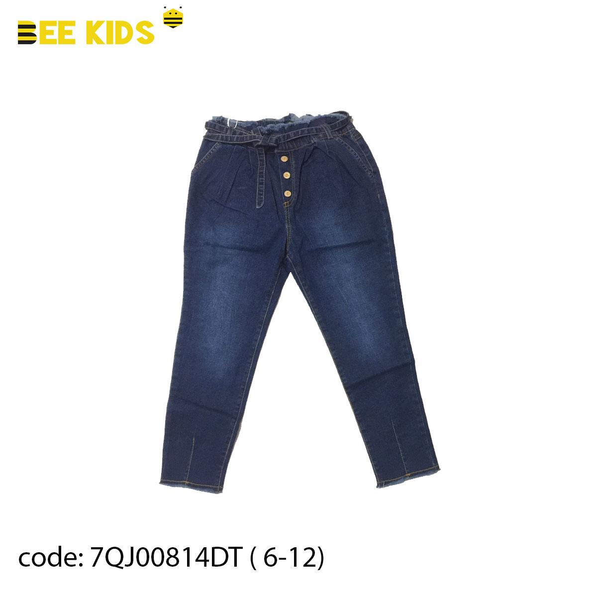 Quần Jeans phong cách 3 cúc bé gái từ 6 đến 12 tuổi