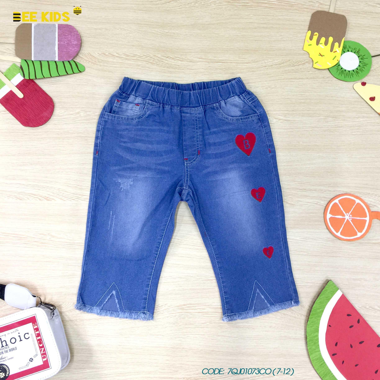 Quần ngố jeans bé gái từ 7 đến 12 tuổi