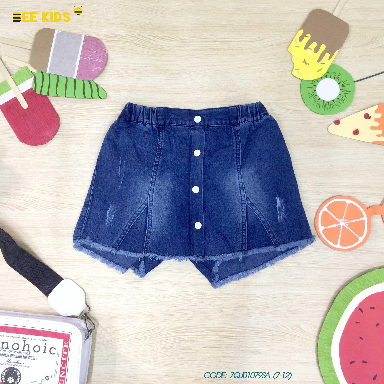 Quần short jeans bé gái từ 7 đến 12 tuổi